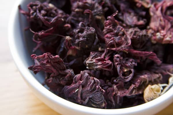 Flor de jamaica (dried hibiscus flowers) used in agua fresca de jamaica #recipe on theothersideofthetortilla.com