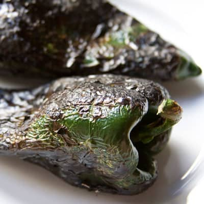 How to roast poblano peppers via theothersideofthetortilla.com