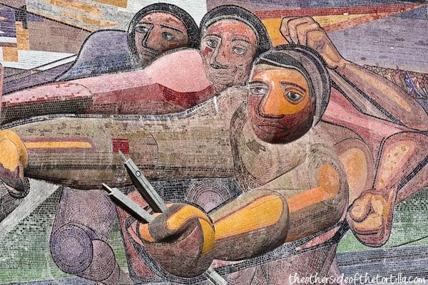 Muralismo mexicano el pueblo a la universidad y la for Mural mexicano