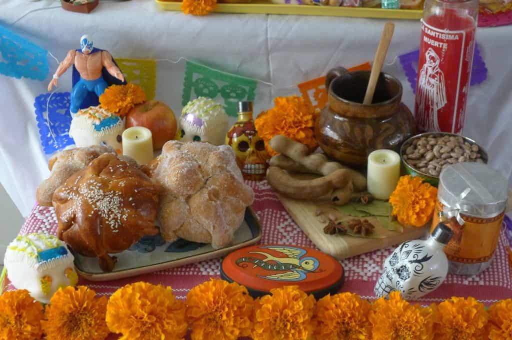 Altar for Día de los Muertos by Ericka Sanchez of Nibbles and Feasts