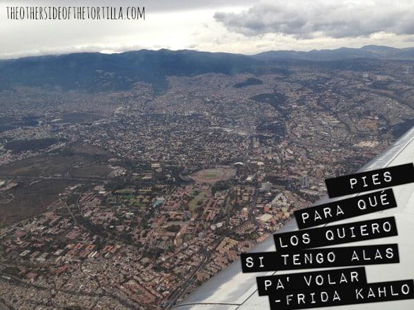 """Frida Kahlo quote """"Pies para qué los quiero si tengo alas pa' volar"""""""