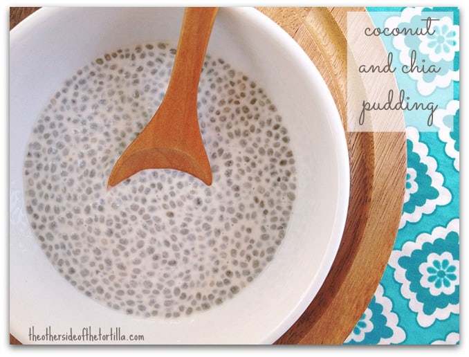 This coconut chia pudding recipe is a simple Mexican dessert with only three ingredients: chia seeds, coconut milk and sugar. This recipe is dairy-free, gluten-free and vegan-friendly. | Get more Mexican recipes on theothersideofthetortilla.com