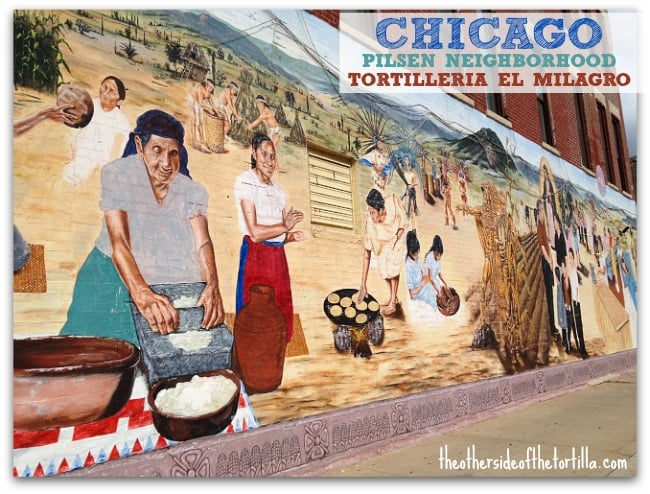 Pilsen Tortillería El Milagro mural in Chicago