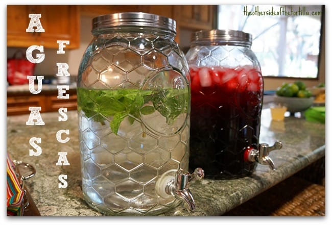 agua de albahaca, agua de jamaica