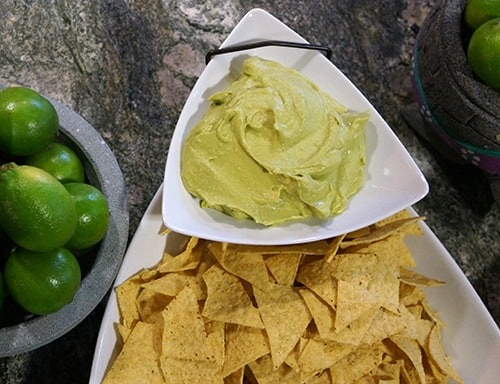 guacahummus: avocado and hummus blend