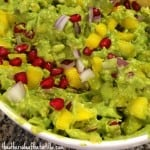 guacamole with mango and pomegranate