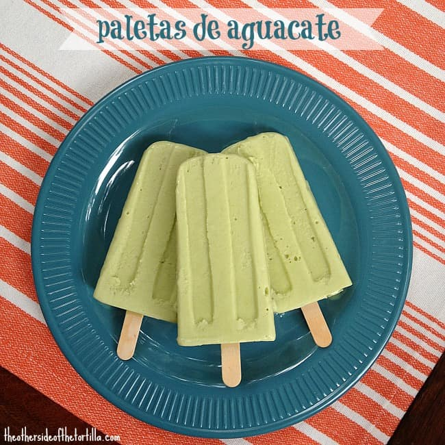 paletas de aguacate | avocado popsicles
