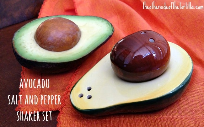 Avocado salt and pepper shakers from Pier1