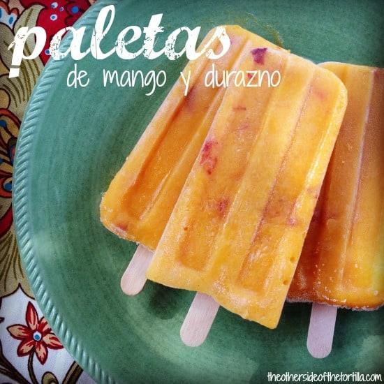mango peach paletas