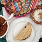 tacos de longaniza en salsa verde
