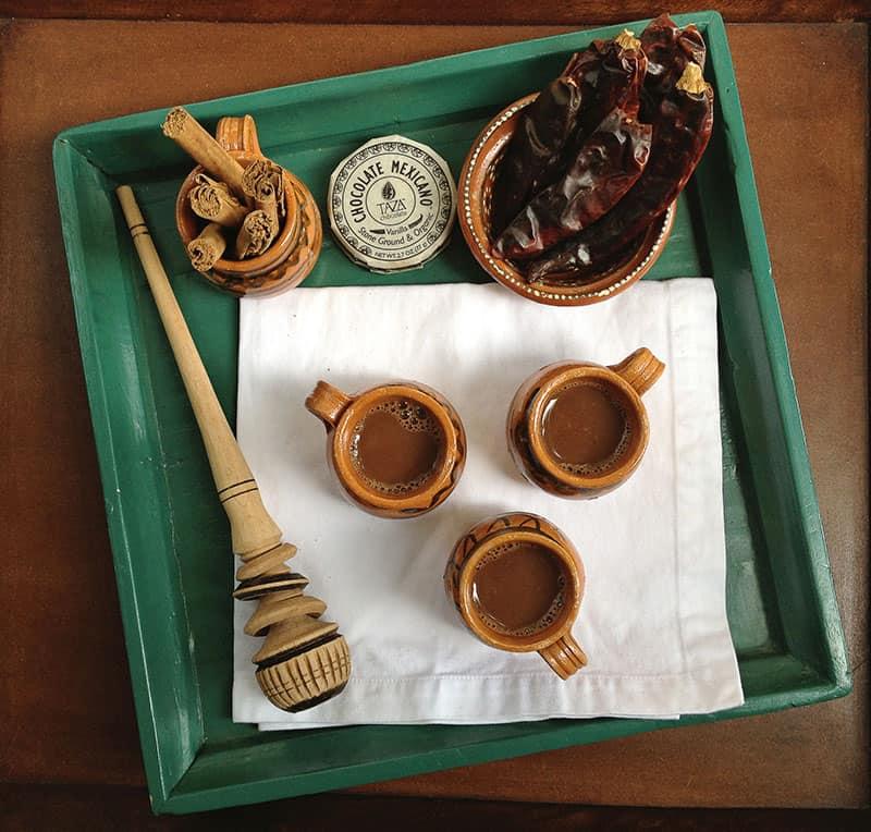 Spicy Mexican hot chocolate recipe via theothersideofthetortilla.com