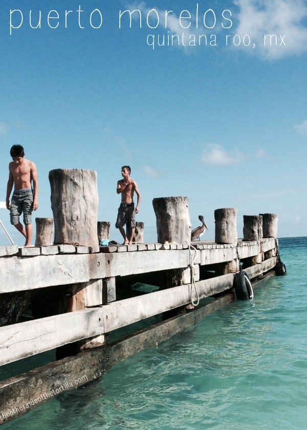 A dock in Puerto Morelos, Quintana Roo, Mexico | More travel stories and photos from Mexico at theothersideofthetortilla.com
