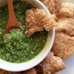 chicharrón con salsa verde