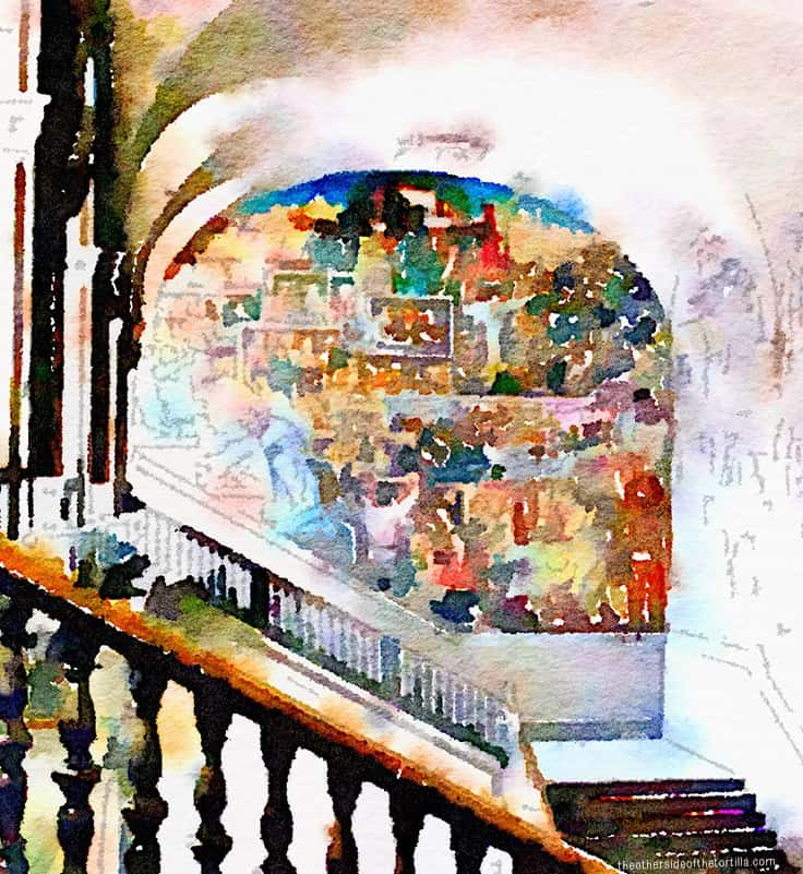 "Part of Diego Rivera's ""The History of Mexico"" mural in the Palacio Nacional, Mexico City 