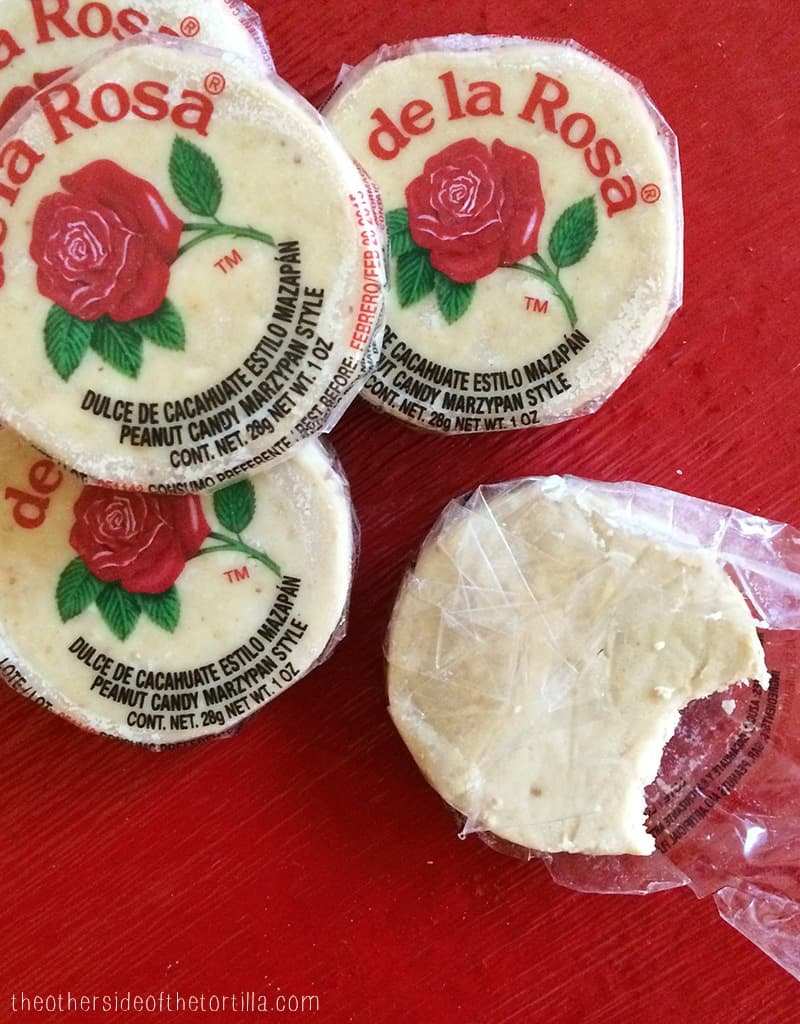 Mazapan is a common Mexican candy made of peanuts and powdered sugar | Get Mexican recipes and travel stories on theothersideofthetortilla.com