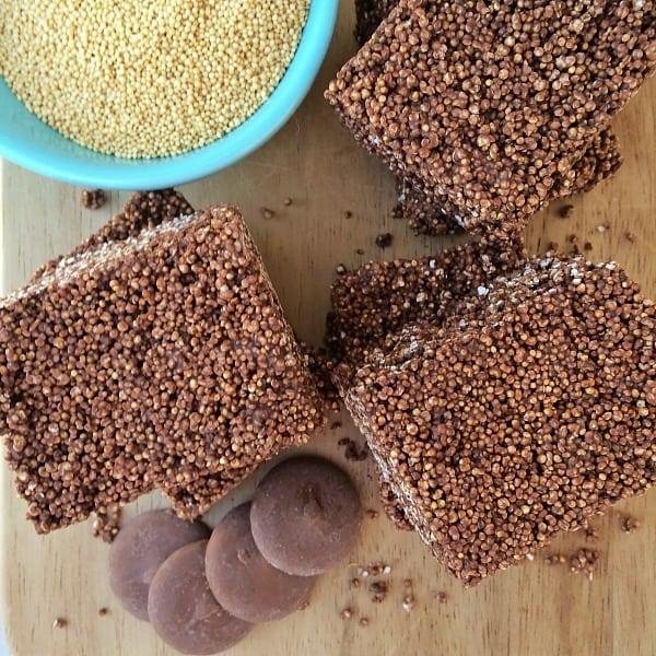 Mexican Chocolate #Amaranth Bar #recipe using #WiltonCandyMelts on theothersideofthetortilla.com