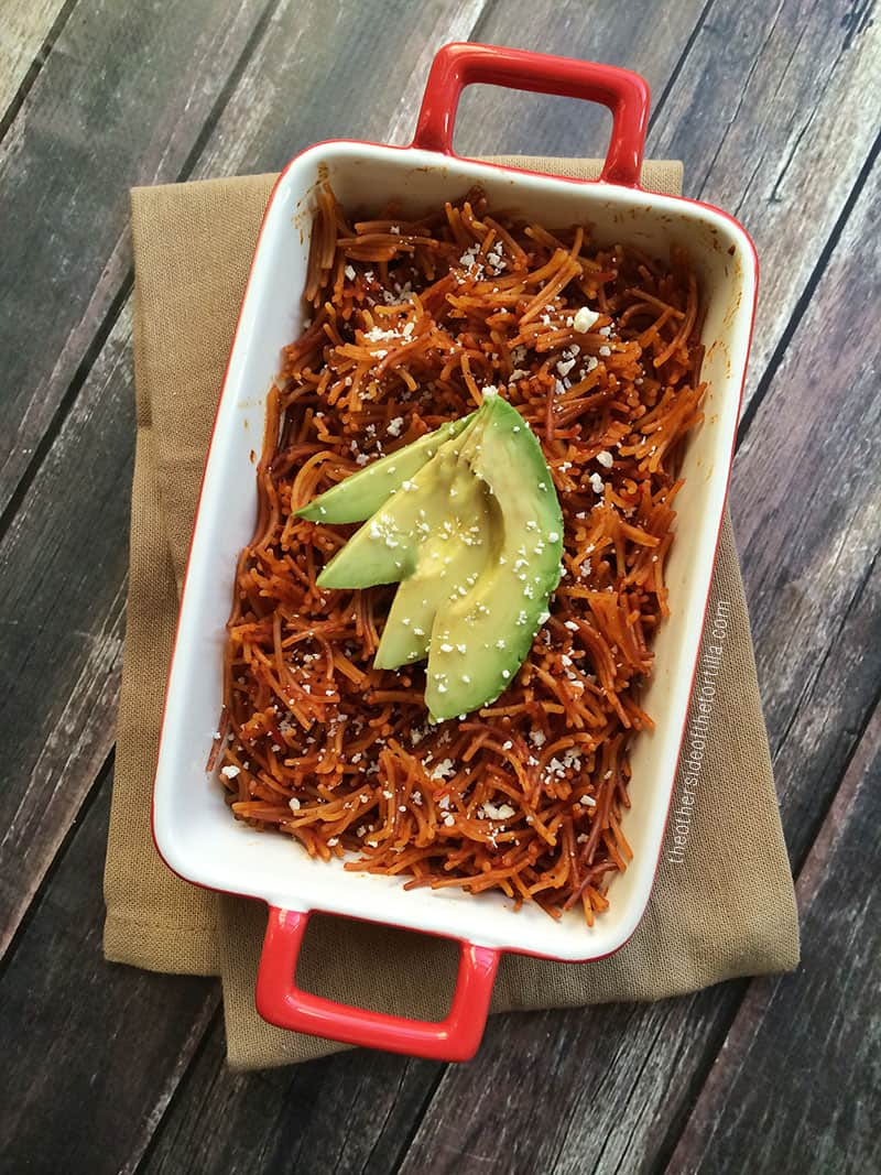 Mexican fideo seco recipe via @MauraHernandez at The Other Side of The Tortilla