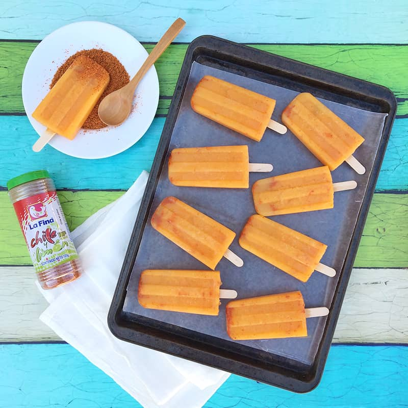 Mango cantaloupe and chile powder paletas from The Other Side of The Tortilla