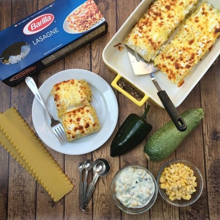 Mexican-inspired white lasagna Azteca rolls. Recipe via theothersideofthetortilla.com