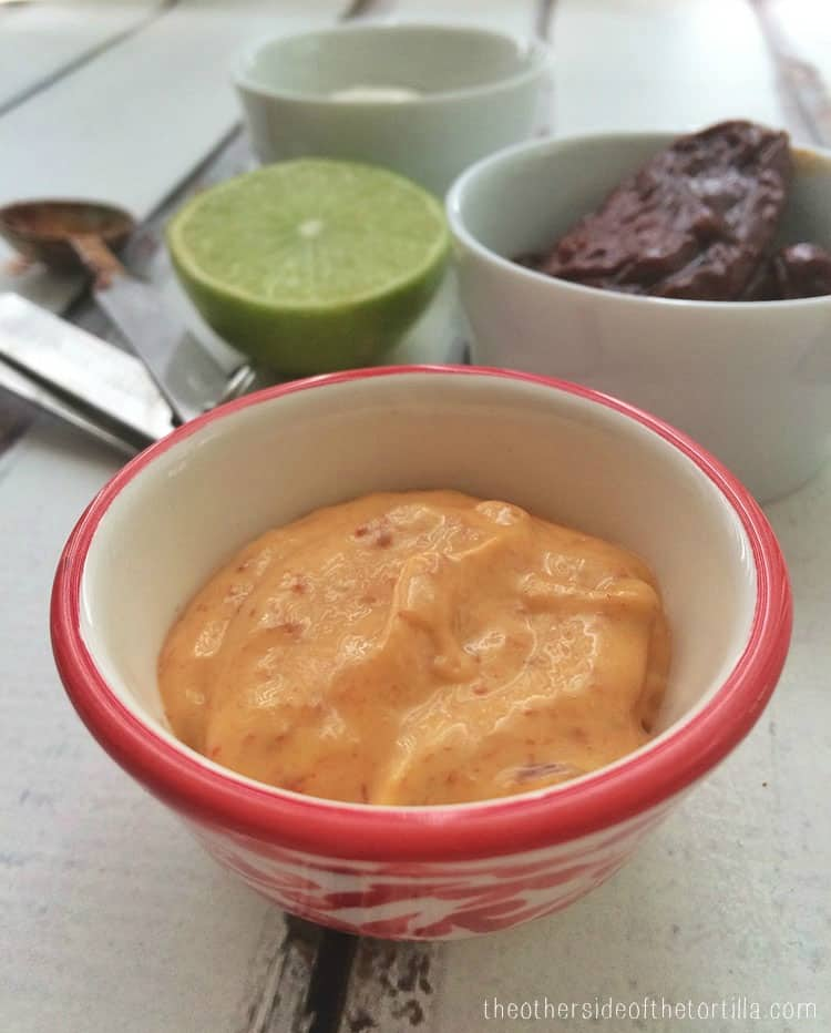 How to make chipotle mayo. Directions via theothersideofthetortilla.com