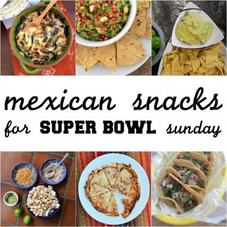 Quick and easy Mexican recipes perfect for your Super Bowl party! Get all the recipes on theothersideofthetortilla.com