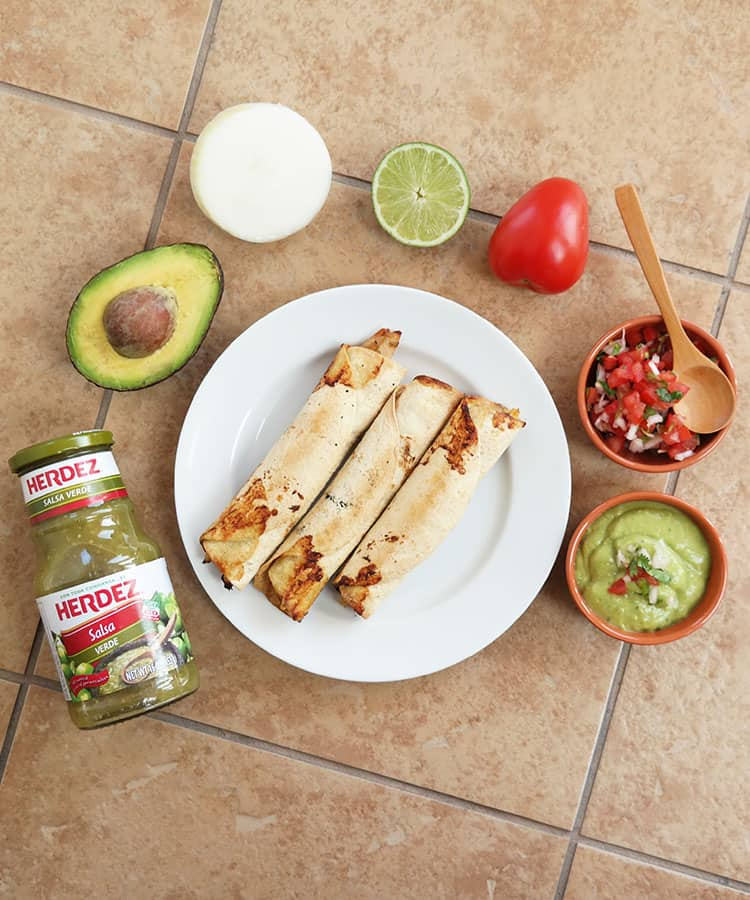 Make baked taquitos or flautas instead of fried! Recipe via theothersideofthetortilla.com