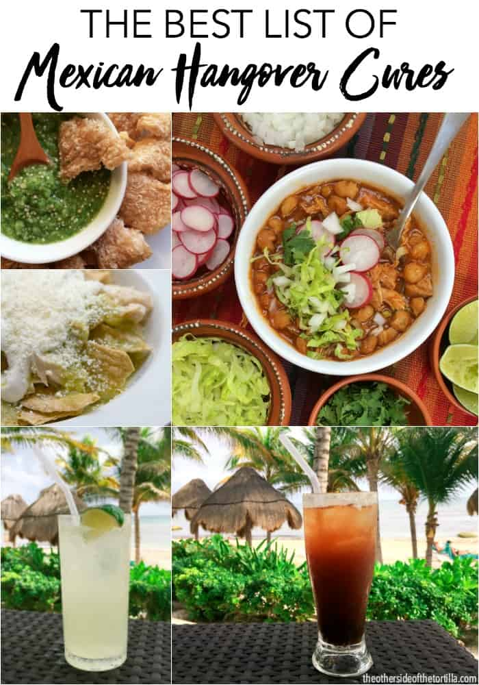 Nobody does hangover cures better than Mexicans! Here's a big list of all the food and beverage remedies popular in Mexico. See them all at theothersideofthetortilla.com