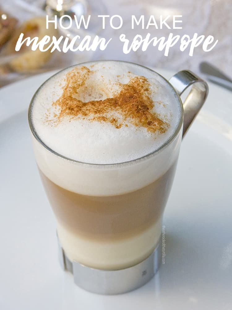 An authentic recipe for rompope, also known as Mexican eggnog. Get this and more recipes on theothersideofthetortilla.com