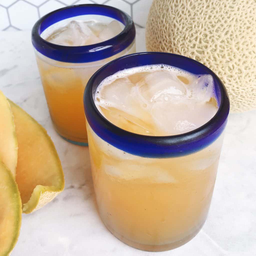 How to make cantaloupe melon agua fresca with a juicer machine