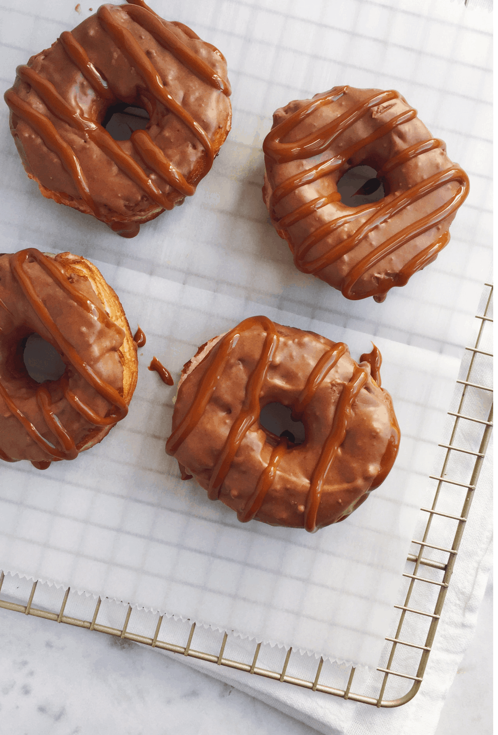 How to make Mexican chocolate-glazed doughnuts with biscuit dough, recipe via theothersideofthetortilla.com