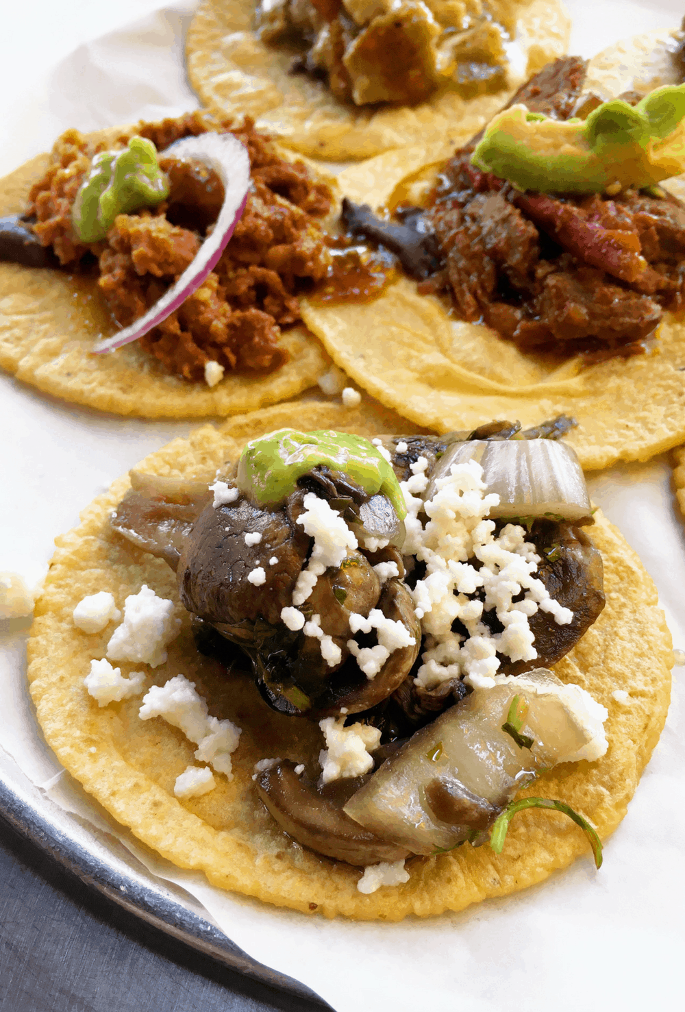 Menu guide on what to order at Guisados in Los Angeles via theothersideofthetortilla.com