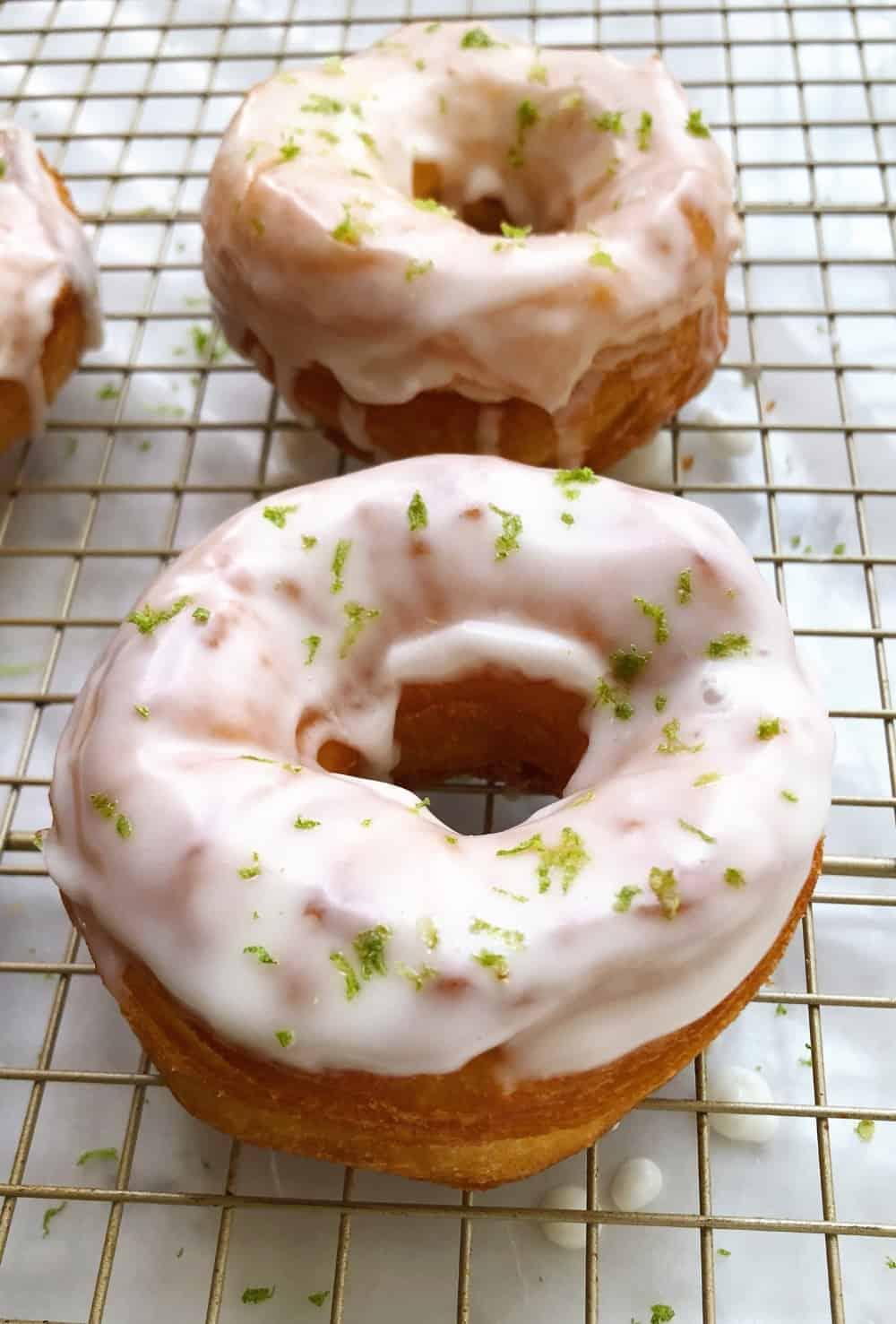 Margarita-glazed doughnuts