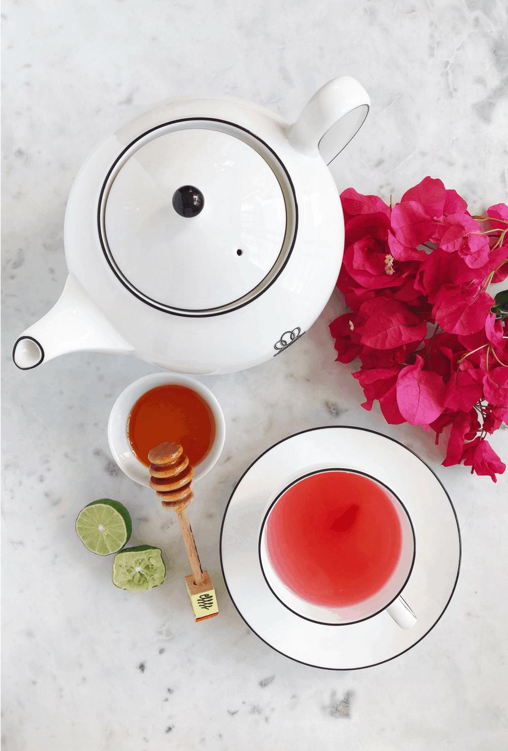 How to make té de bugambilias via theothersideofthetortilla.com