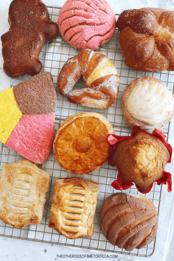 Types of Mexican pan dulce
