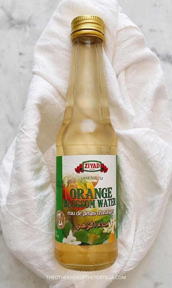 bottle of orange blossom water